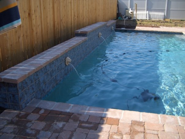 Pontchartrain pools spas for Swimming pool fountain nozzles