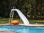 02 standard white pool slide